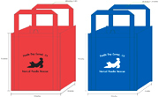 Large Poodle Grocery Bags