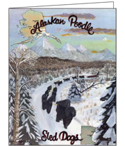 Poodle Sled Team Greeting Cards