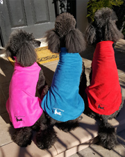 Fleece Stretch Pullovers with Poodle Day Logo