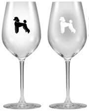 Poodle Wine Glass